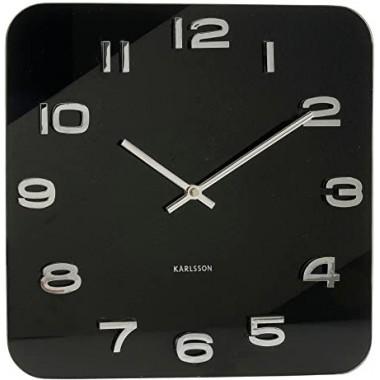 Horloge Karlsson Vintage design carrée noire 35 x 35 cm