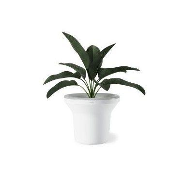Porte plante lumineux blanc ORA