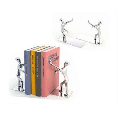 Serre-livres Shadow x 2 chromés zinc
