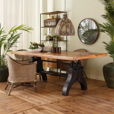 Table à manger plateau bois 180 cm ESSENTIAL