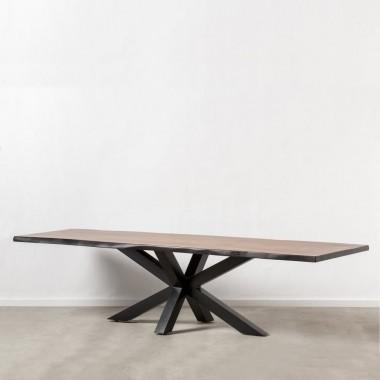 Table plateau bois et pieds métal noir ESSENTIAL