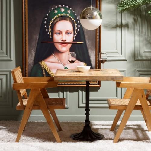 Table de bar bois naturel et pieds noir ESSENTIAL