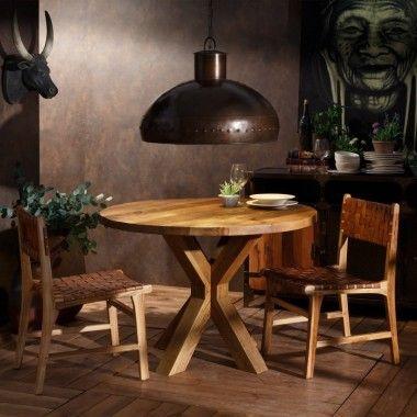 Table à manger bois décapé NATURE LINE