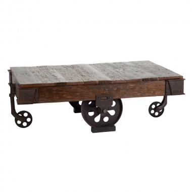 Table basse industriel sur roues STANDING