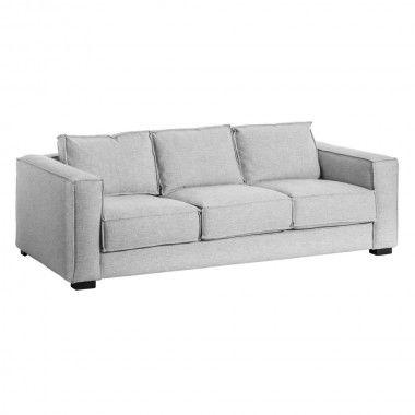 Canapé 2 places gris clair 225cm