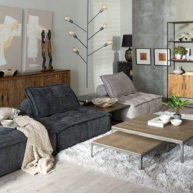 Canapé 1 place gris foncé