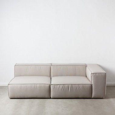 Canapé 1 place angle modulable droit gris