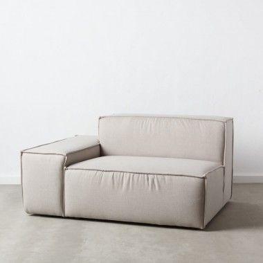 Canapé 1 place angle modulable gauche gris
