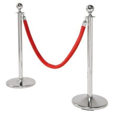 Poteau de sécurité chromé à l'unité pour Corde VIP