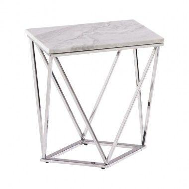 Table basse marbre et acier bronze COLLISION