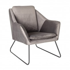 Fauteuil velours curry GLAM
