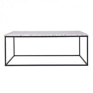 Table basse design bois et fer SEIN