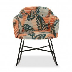 Fauteuil à bascule patchwork orange DANA