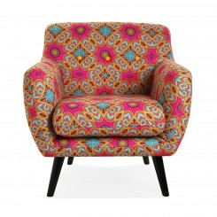 Fauteuil patchwork multicolore BRAIS