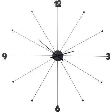 Horloge murale noir adhésif STICK TACK