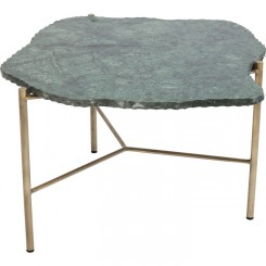 Table d'appoint marbre et or CONTEMPORAIN