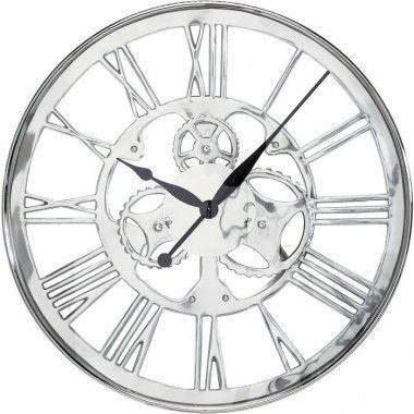Horloge en engrenage Grande Roue avec date argent