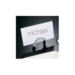 PORTE CARTE DESIGN CHROME DE TABLE