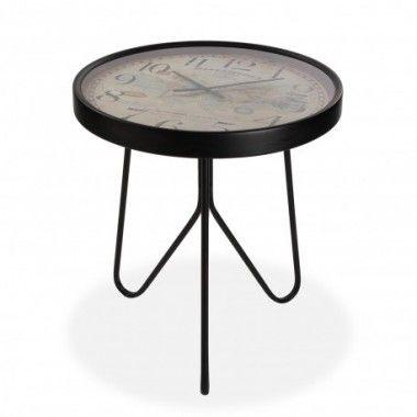 Table d'appoint plateau marbre noir LARGO