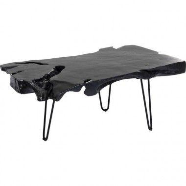 Table basse plateau bois et pieds acier ASPEN