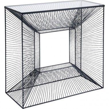 Console lignes spirales noire ART DE FER