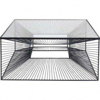 Table basse ligne graphique noire ART DE FER