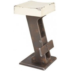 Tabouret de bar Key blanc
