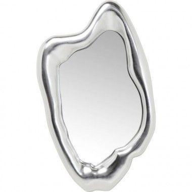 Miroir design oval aluminium DROPS