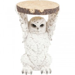 Table d'appoint hiboux blanc ANIMAL