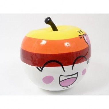 Pomme colorée joyeuse KAWAII