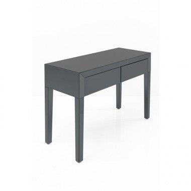 Console bois gris 2 tiroirs 80cm BRAN
