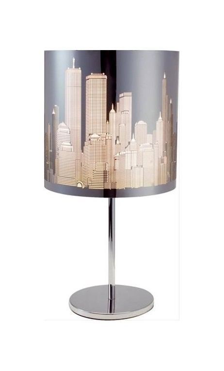 achetez votre lampe sur pied gratte ciel new york chrom. Black Bedroom Furniture Sets. Home Design Ideas