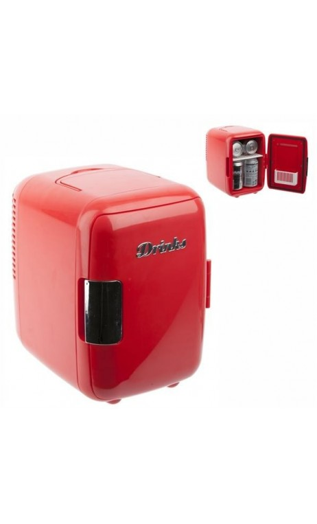 MINI FRIGO DESIGN DRINKS ROUGE