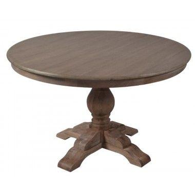 Table ronde bois naturel 90cm LAURENNE