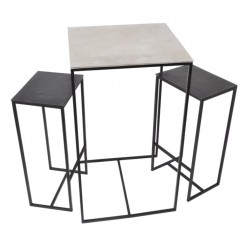 Set de 5 tables carrées en aluminium PALOMA