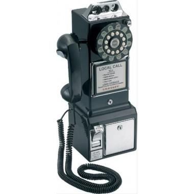 Téléphone rétro américain noir