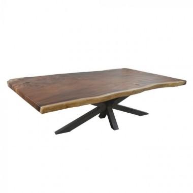 Table bois naturel et pieds métal 300cm ESSENTIAL