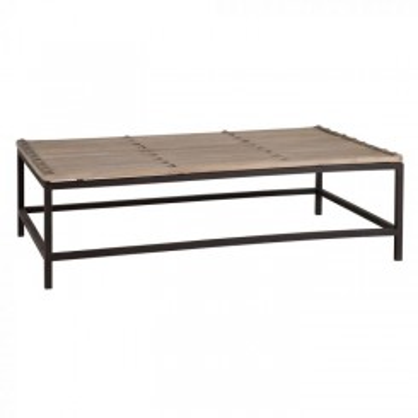 Table basse plateau bois et structure métal noir YUKON