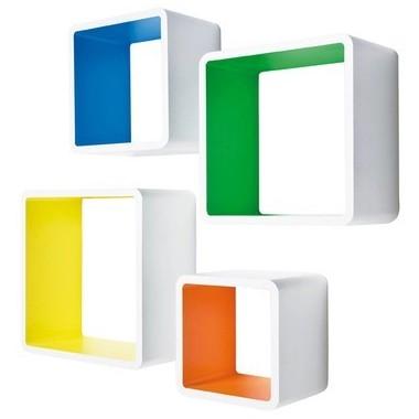 Etagère CUBE x 4 couleur design MDF