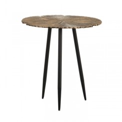 Table d'appoint or et noir 63cm ENVEJECIDO