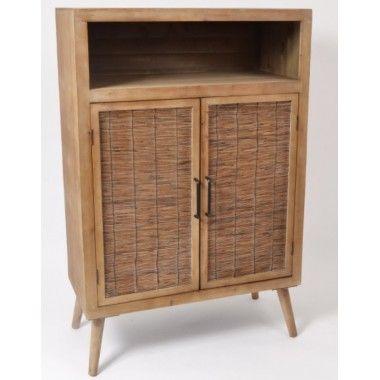 Buffet bois rustique 1 tiroir et 2 portes MANILLE