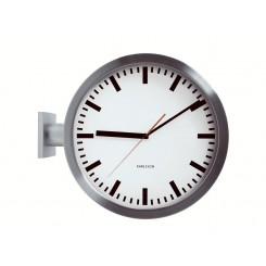 "Horloge de ""Gare"" Karlsson double face"