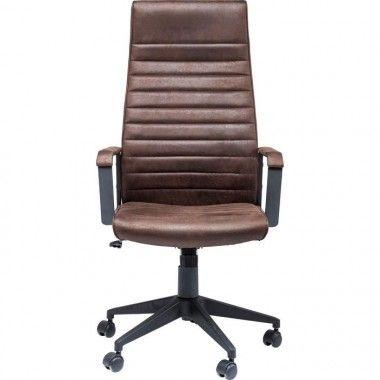 Chaise de bureau noir haut dossier LABORA