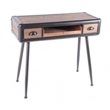 Console bois et métal 3 tiroirs MASTER