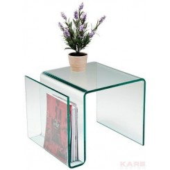 TABLE D'APPOINT EN VERRE PORTE REVUE KARE DESIGN