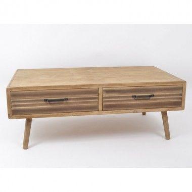 Table basse bois 2 tiroirs ODEON