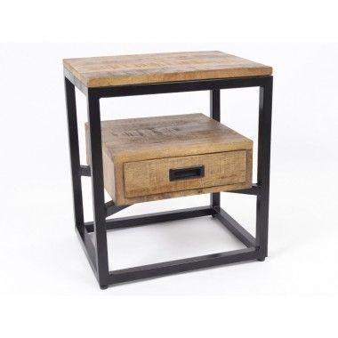 Table de chevet bois 1 tiroir ABISKO