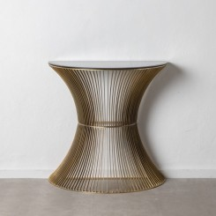 Table d'appoint design or vieux métal CRISTAL