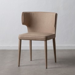 Chaise peau synthétique beige DENZZO