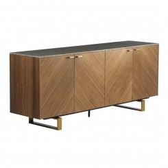 Buffet 4 portes aspect bois marron SOUL